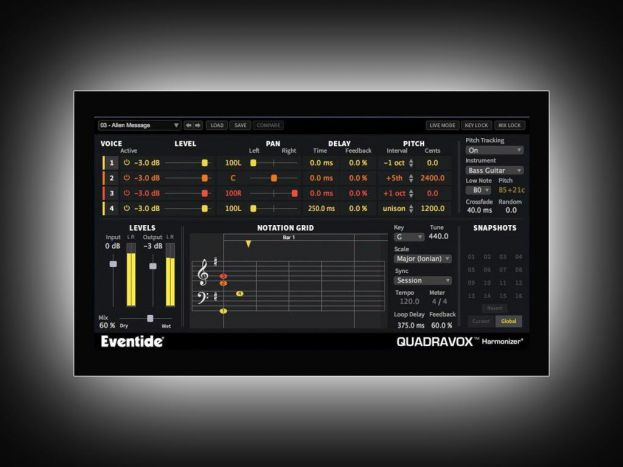 Le plug-in Quadravox d'Eventide Gratos !