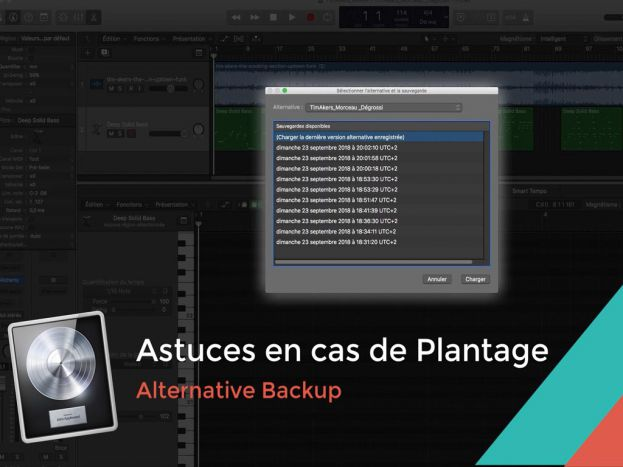 Astuce Logic Pro X: Alternative Backup