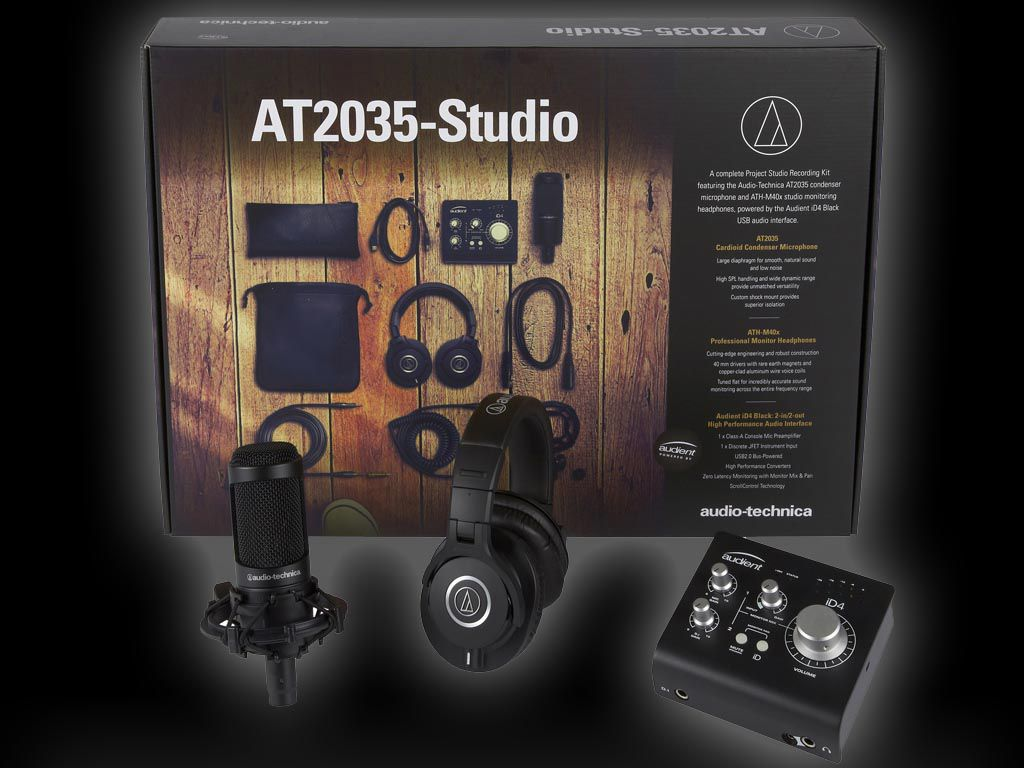 Audio-Technica et Audient présentent l'Essential Studio Kit AT2035-Studio