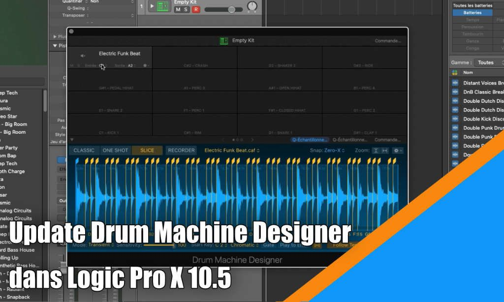 Update Drum Machine Designer dans Logic Pro X v10.5